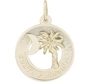 PALMETTO CRESCENT MOON ENGRAVABLE