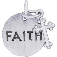 FAITH TAG W CROSS ENGRAVABLE
