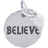 BELIEVE TAG W HEART ENGRAVABLE