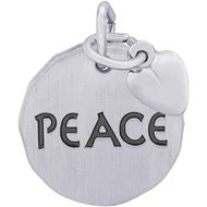 PEACE TAG W HEART ENGRAVABLE