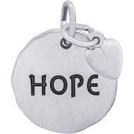 HOPE TAG W HEART ENGRAVABLE