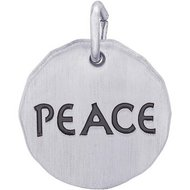 PEACE CHARM TAG ENGRAVABLE