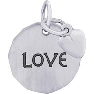 LOVE TAG W HEART ENGRAVABLE