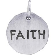 FAITH CHARM TAG ENGRAVABLE