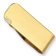 Stainless Steel Engravable Money Clip Gold Plated
