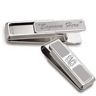 Brushed Stainless Steel Engravable  M Clip