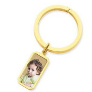 Photo Engraved Rectangle Key Chain