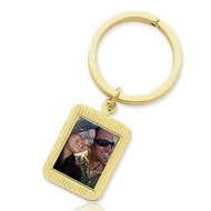 Photo Engraved Rectangle Keychain