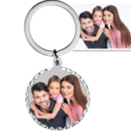 Photo Engraved Key Chain