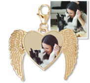 Angel Heart Photo Charm For Bracelet