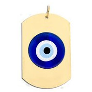 Evil Eye Color Dog Tag Pendant
