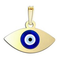 Evil Eye Color Laser Pendant