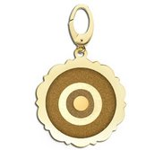 Scalloped Round Evil Eye Engraved Charm