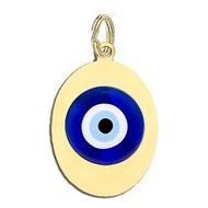 Evil Eye Oval Color Charm