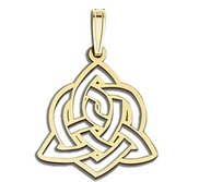Sister Love Celtic Symbol Cut Out Pendant