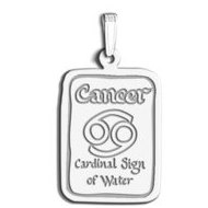 Cancer Symbol Rectangle Charm or Pendant