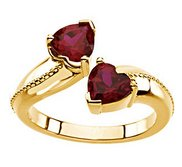 Solid Gold Birthstone Promise Ring