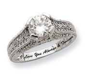 Sterling Silver Clear Cubic Zirconia Promise Ring