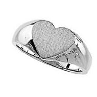 Sterling Silver Heart Shaped Promise Ring