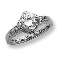Sterling Silver Clear Round Cubic Zirconia Promise Ring