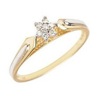 14K Gold Diamond Cluster Promise Ring