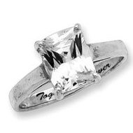 Sterling Silver Fancy Cubic Zirconia Promise Ring