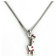 Sterling Silver Enamel   Giraffe   Necklace