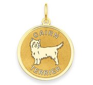 Cairn Terrier Disc Charm or Pendant