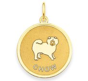 Chow Disc Charm or Pendant