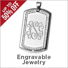 Engravable Jewelry Sale