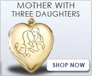Mother with Three Daughters Lockets