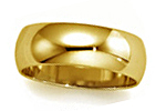 10K Yellow Gold Half Round Wedding Bands