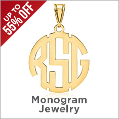 Monogram Jewelry Sale