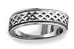 14K White Gold Fancy Wedding Bands
