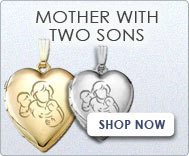 Mother with Two Sons Lockets