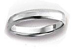 14K White Gold Beveled Edge Wedding Bands