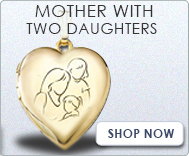 Mother with Two Daughters Lockets