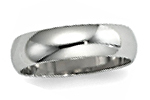 14K White Gold Half Round Wedding Bands