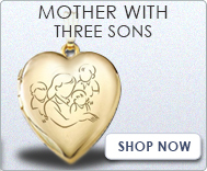 Mother with Three Sons Lockets