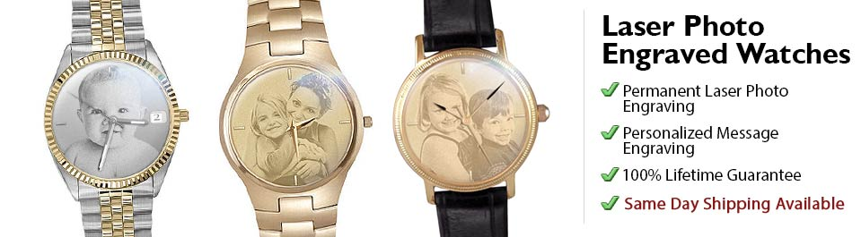 Photo Engraved Watches