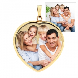 Heart Pendant w Bezel Photo Pendant Picture Charm