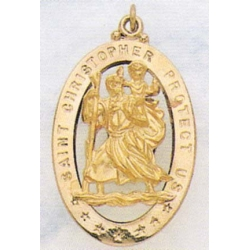 14K Gold Saint Christopher Medals