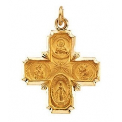 14k Gold Four Way Medal