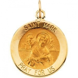 14K Gold Saint Mark Medal