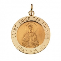 14K Gold Saint James Medal