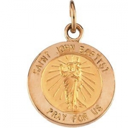 14K Gold Saint John the Baptist Medal