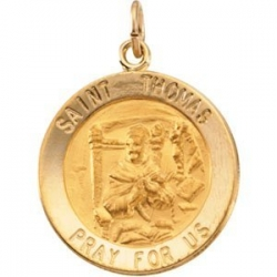 14K Gold Saint Thomas Medal