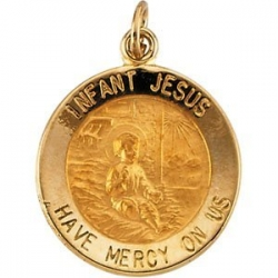 14K Gold Infant Jesus Medal