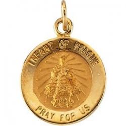 14k Gold Infant of Progue Medal