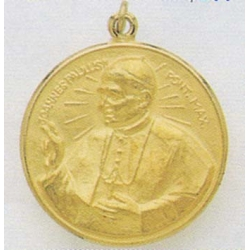 14K Gold Pope John Paul II Medal